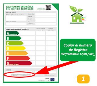 Registro Certificado de Eficiencia Energetica